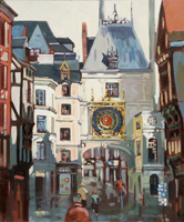 La rue du gros horloge ROUEN