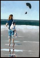 Personne regardant une aile volante